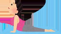 ヨガのポーズをする女性のイラスト