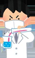 人工甘味料の実験をしているイラスト
