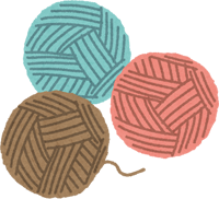 手芸用の毛糸のイラスト