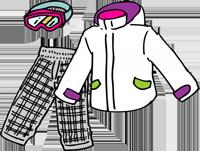 スキー・スノボウェアのイラスト