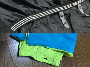 ウェアの裾とパンツの裾のパウダーガードの写真
