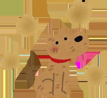 汚れた犬のイラスト