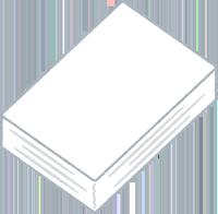 コピー用紙の束のイラスト