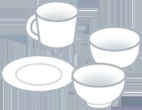 食器のイラスト