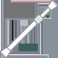 デニムを伸ばす時に使う突っ張り棒のイラスト