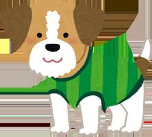 服を着ている犬のイラスト