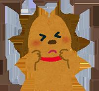 ノミがついた犬のイラスト