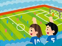 サッカー好きのイラスト