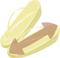 草履のサイズのイラスト