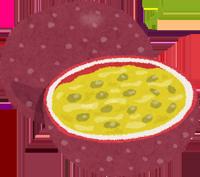 パッションフルーツのイラスト