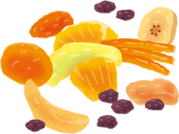ドライフルーツのイラスト