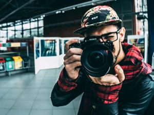 カメラマンの写真