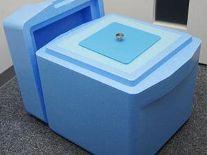 ドライアイス専用の保管ボックスの写真