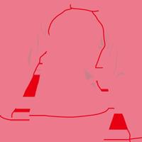 ピンクのラッシュガードのイラスト