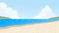 浜辺・ビーチのイラスト
