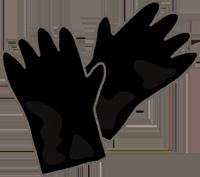 黒い手袋のイラスト