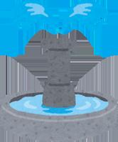 噴水のイラスト