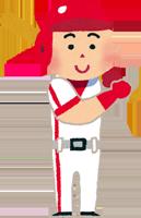 プロ野球選手のイラスト