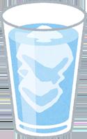 グラスの入ったお酒のイラスト
