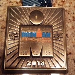フィニッシャーメダルの写真