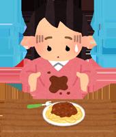 食事のシミのイラスト