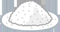 お皿に出した片栗粉のイラスト