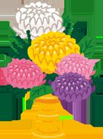 供花のイラスト