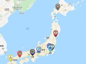 プロ野球の本拠地球場一覧と一覧地図
